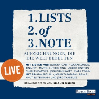 Lists of note – live