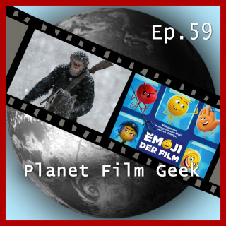 Johannes Schmidt, Colin Langley: Planet Film Geek, PFG Episode 59: Planet der Affen: Survival, Emoji - Der Film