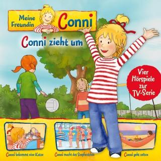 Ludger Billerbeck, Liane Schneider, Arne Gedigk, Nana Andrea Meyer: 01: Conni zieht um / Conni bekommt eine Katze / Conni macht das Seepferdchen / Conni geht zelten (Vier Hörspiele zur TV-Serie)