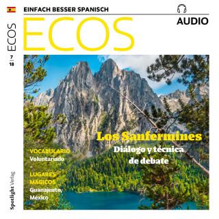 Covadonga Jiménez: Spanisch lernen Audio – Pamplona: Sanfermines, Volksfest mit zwei Gesichtern