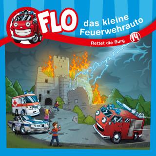 Christian Mörken: Rettet die Burg (Flo, das kleine Feuerwehrauto 14)