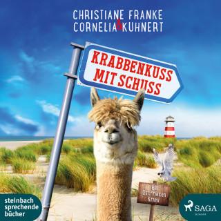 Christiane Franke, Cornelia Kuhnert: Krabbenkuss mit Schuss: Ein Ostfriesen-Krimi (Henner, Rudi und Rosa 7)