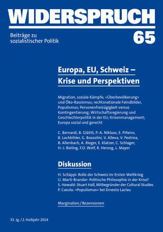 C. Bernardi, B. Glättli, P.-A. Niklaus, E. Piñeiro, B. Lochbihler, G. Bozzolini, B. Allenbach, V. Alleva, L. Mayer, V. Pedrina, A. Rieger, E. Klatzer, C. Schlager, H.-J. Bieling, F.O. Wolf, R. Herzog: Widerspruch 65