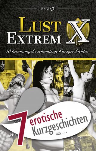 """Marie Sonnenfeld, Annett Bedford, Vicky van der Graaf, Olivia de la Rosa, Anthony Caine, Dave Vandenberg, Lisa Cohen: 7 erotische Kurzgeschichten aus: """"Lust Extrem 3: Gnadenlos ausgeliefert"""""""