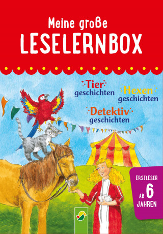 Carola von Kessel, Anke Breitenborn: Meine große Leselernbox: Tiergeschichten, Hexengeschichten, Detektivgeschichten