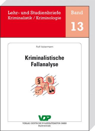 Rolf Ackermann: Kriminalistische Fallanalyse