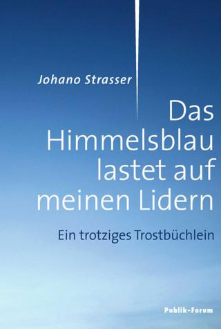 Johano Strasser: Das Himmelsblau lastet auf meinen Lidern