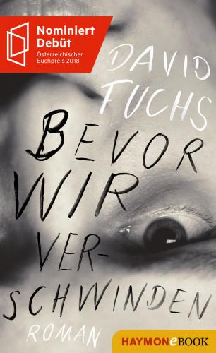 David Fuchs: Bevor wir verschwinden