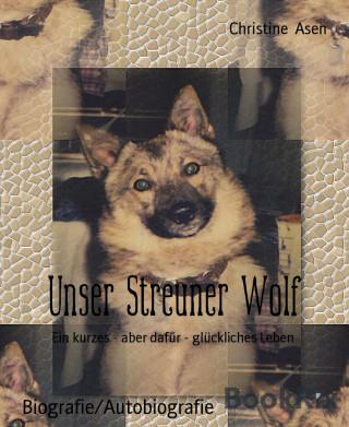 Christine Asen: Unser Streuner Wolf