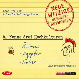 "Lena Greiner, Carola Padtberg-Kruse: ""Nenne drei Hochkulturen: Römer, Ägypter, Imker"" (Szenische Lesung)"