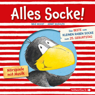 Nele Moost, Annet Rudolph: Alles Socke! (Alles erlaubt?, Alles Eis!, Alles gefunden!, Alles zu spät!, Alles echt wahr!, Alles nass!, Alles Bitte-danke!, Alles verlaufen! (Kleiner Rabe Socke)