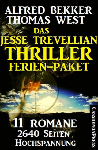 Alfred Bekker, Thomas West: Das Jesse Trevellian Thriller Ferien-Paket: 11 Romane