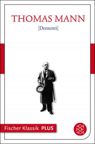 Thomas Mann: Dementi