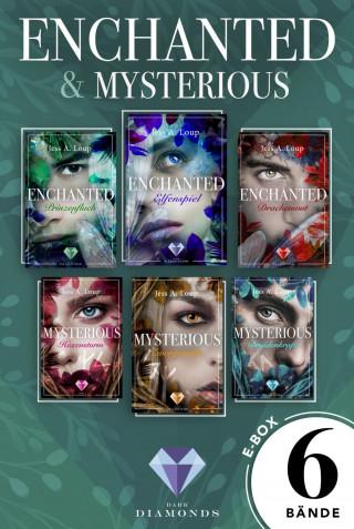 """Jess A. Loup: """"Enchanted"""" und """"Mysterious"""": Alle Bände der beiden zauberhaften Trilogien in einer Mega-E-Box!"""