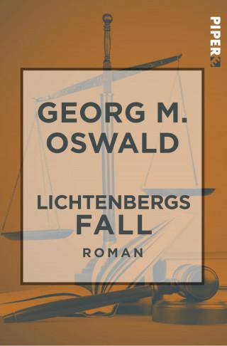 Georg M. Oswald: Lichtenbergs Fall