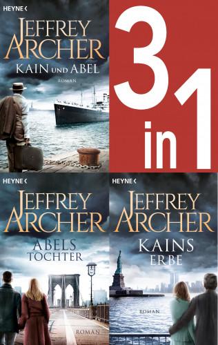 Jeffrey Archer: Jeffrey Archer, Die Kain-Saga 1-3: Kain und Abel/Abels Tochter/ - Kains Erbe (3in1-Bundle) -