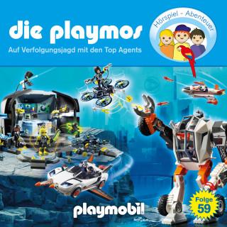 Simon X. Rost, Florian Fickel: Die Playmos - Das Original Playmobil Hörspiel, Folge 59: Auf Verfolgungsjagd mit den Top Agents