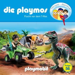 David Bredel, Florian Fickel: Die Playmos - Das Original Playmobil Hörspiel, Folge 56: Flucht vor dem T-Rex