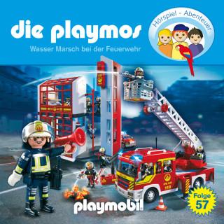 Simon X. Rost, Florian Fickel: Die Playmos - Das Original Playmobil Hörspiel, Folge 57: Wasser Marsch bei der Feuerwehr