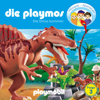 Simon X. Rost, Florian Fickel: Die Playmos - Das Original Playmobil Hörspiel, Folge 3: Die Dinos kommen