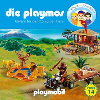Simon X. Rost, Florian Fickel: Die Playmos - Das Original Playmobil Hörspiel, Folge 14: Gefahr für den König der Tiere