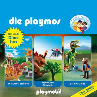Simon X. Rost, David Bredel, Florian Fickel: Die Playmos - Das Original Playmobil Hörspiel, Die große Dino-Box, Folgen 3, 17, 30