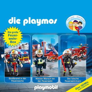 David Bredel, Simon X. Rost, Florian Fickel: Die Playmos - Das Original Playmobil Hörspiel, Die große Feuerwehr-Box, Folgen 42, 57, 62