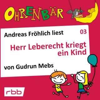 Gudrun Mebs: Ohrenbär - eine OHRENBÄR Geschichte, Folge 3: Herr Leberecht kriegt ein Kind (Hörbuch mit Musik)